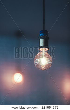 Decoration antique edison led light style filament light bulbs , turn on the light with white background ,color vintage style,Thailand