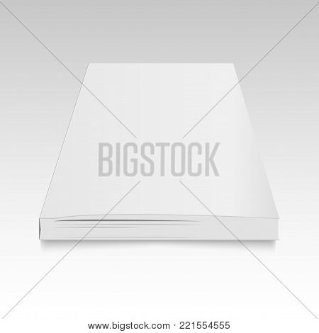 Blank open magazine, book, booklet, brochure, Cove. Mock up vector template for your design