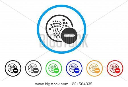 Restricted Iota rounded icon. Style is a flat gray symbol inside light blue circle with additional color variants. Restricted Iota vector designed for web and software interfaces.