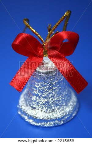 Christmas Handbell Of Silvery Color With Tape