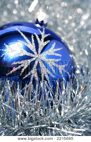 New Year's Glass Sphere Of Dark Blue Color 3