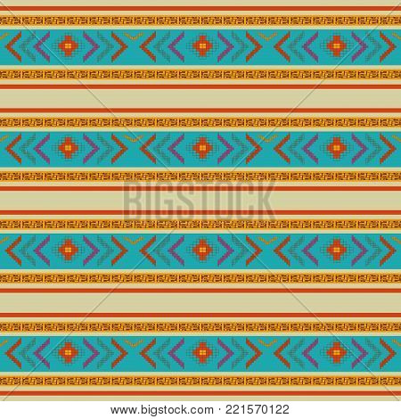 Background of  maya culture and mexican landmark theme Vector illustration