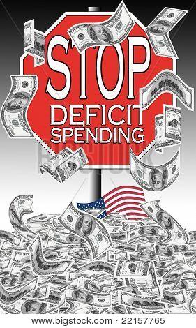 Stop deficit spending