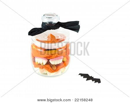 Halloween Candy in a glass jar