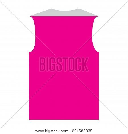 Isolated sleeveless icon on a white bacground, vector illustration