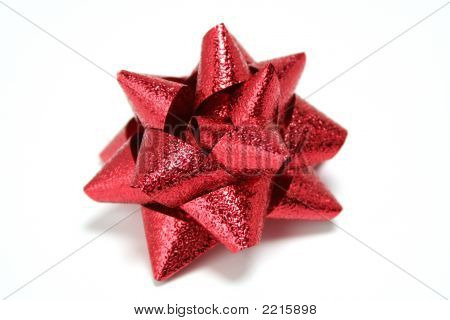 Red Celebratory Bow For Gifts And Congratulations