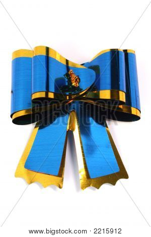 The Blue Isolated Celebratory Bow For A Gift