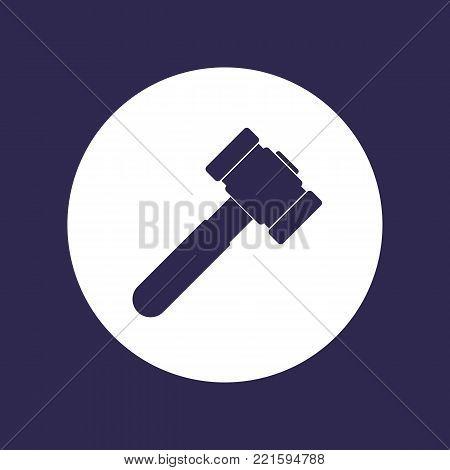hammer, sledgehammer icon on white, eps 10 file, easy to edit