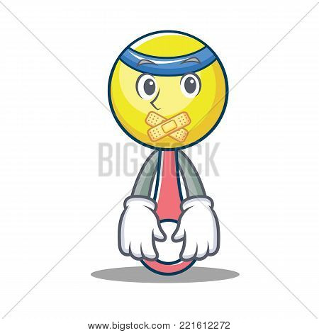Silent rattle toy mascot cartoon vector illustration