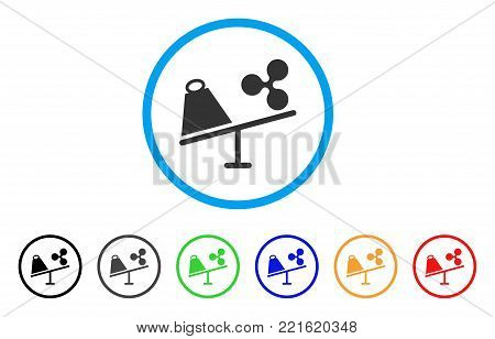 Ripple Trade Swing rounded icon. Style is a flat gray symbol inside light blue circle with bonus color variants. Ripple Trade Swing vector designed for web and software interfaces.