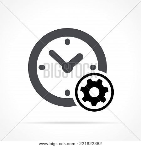 Illustration of time management icon on white background