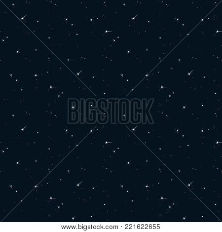 Seamless pattern background sky with starlight. Vector illustration.