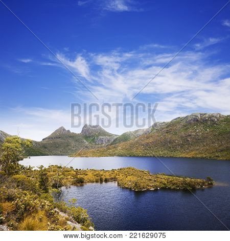 A sunny summer's day at Tasmania's Cradle Mountain.