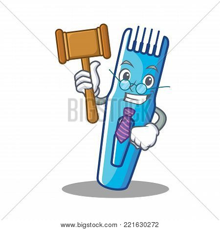 Judge trimmer mascot cartoon style vector illustration