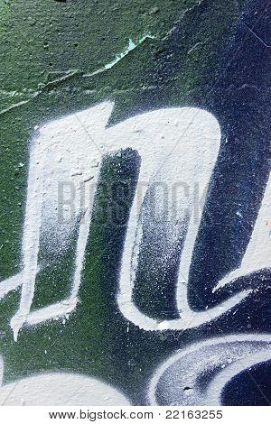Graffiti wall details