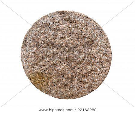 view of a cut granite pilar post