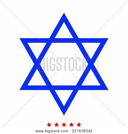 Jewish star of David icon  Different color  It is imple style  .