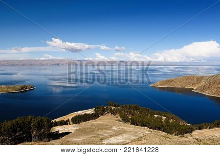 Bolivia - Isla del Sol on the Titicaca lake, the largest highaltitude lake in the world
