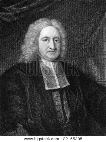Edmond Halley (1656-1742). Engraved by W.T.Fry and published in The Gallery Of Portraits With Memoirs encyclopedia, United Kingdom, 1833.