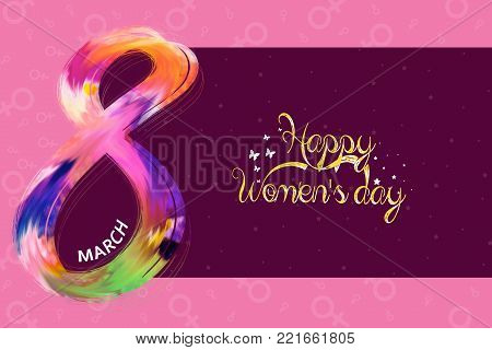 International Women's Day Poster. Woman Sign.colorful Happy Mother's Day.