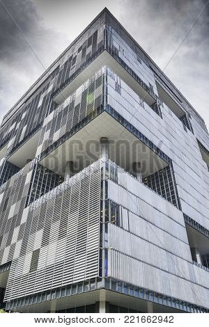 Rio de Janeiro, Brazil - Jan 11th, 2018: Headquarters of Brazilian mixed economy oil giant, Petrobras, which has been embroilled in a corruption scandal since 2013 Lava Jato