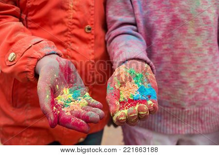 Celebrating The Indian Festival Of Colors And Spring Holi In Gorky Park