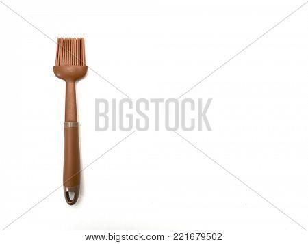 Silicone culinary brush isolated on white background