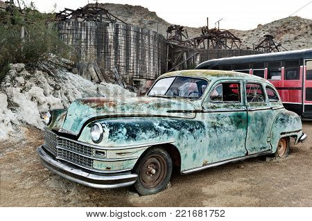 Nelson, USA - November 22: Old rusty truck in Nelson Ghost town Nevada on November 22, 2016