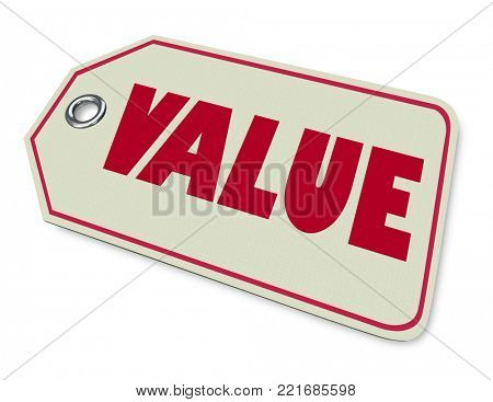 Value Price Tag Best Purchase Buy 3d Illustration