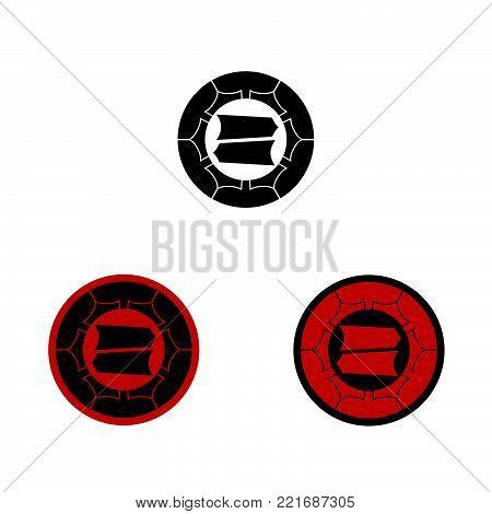 Hattori samurai crest, vector graphic of the crest or mon of the Japanese Samurai Clan.