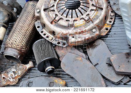 Car parts - scrap, used and damaged car parts.