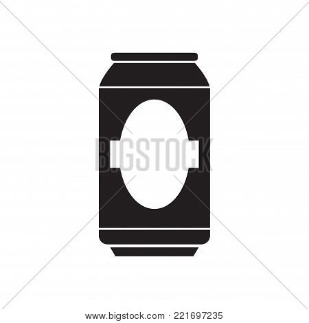 Silhouette of a beer can, Vector illustration