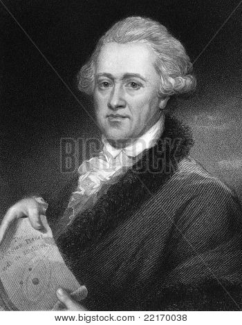 Frederick William Herschel (1738-1822). Engraved by E.Scriven and published in The Gallery Of Portraits With Memoirs encyclopedia, United Kingdom, 1835.