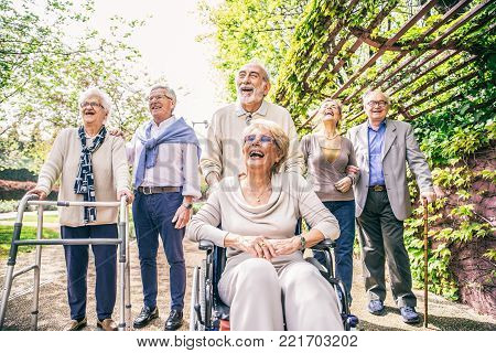 Senior People In A Retirement Home