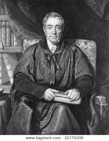 Samuel Lee (1783-1852). Engraved by W.T.Fry and published in The National Portrait Gallery Of Illustrious And Eminent Personages encyclopedia, United Kingdom, 1840. poster