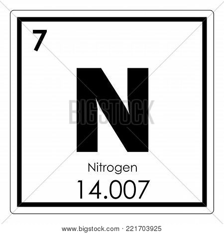 Nitrogen chemical element periodic table science symbol