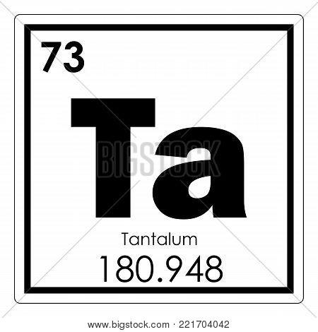 Tantalum chemical element periodic table science symbol