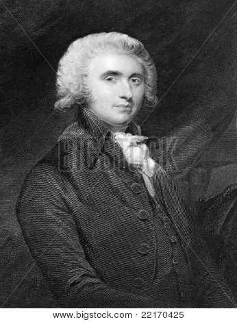 Thomas Erskine (1750-1823). Engraved by R.Woodman and published in The Gallery Of Portraits With Memoirs encyclopedia, United Kingdom, 1833.