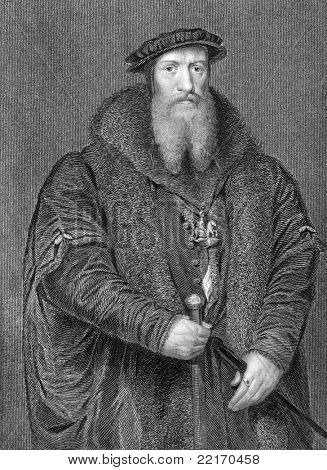 William Paget (1506-1563). Engraved by H.Robinson  and published in Lodge's British Portraits encyclopedia, United Kingdom, 1823. poster