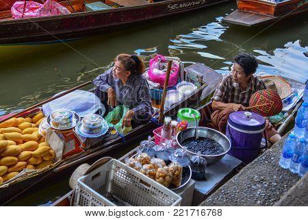Floating Market In Bangkok Thailand