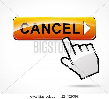 Illustration of cancel web button concept design
