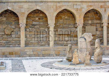 Archaeological exposition in old city, Baku, Azerbaijan