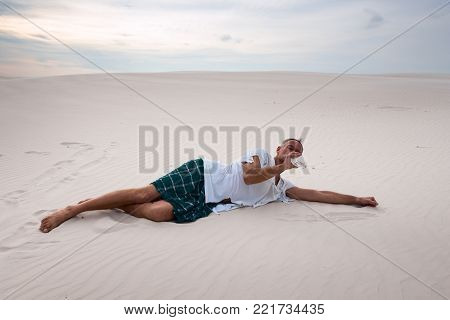 Tired Man, Lost In The Desert