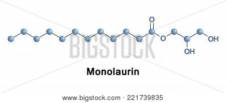 Monolaurin, also known as glycerol monolaurate, glyceryl laurate or 1-Lauroyl-glycerol, is a monoglyceride. It is the mono-ester formed from glycerol and lauric acid