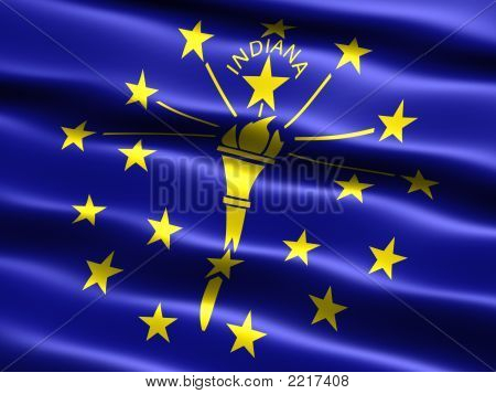 Flag Of The State Of Indiana