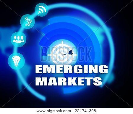 Emerging Markets plan concept business mechanism strategy