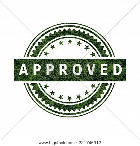 Illustration seal of approval as an icon on a white background.