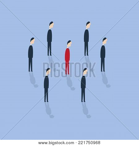 Businessman being different. Talent or special skills symbol. Vector illustration. Royalty free stock images.