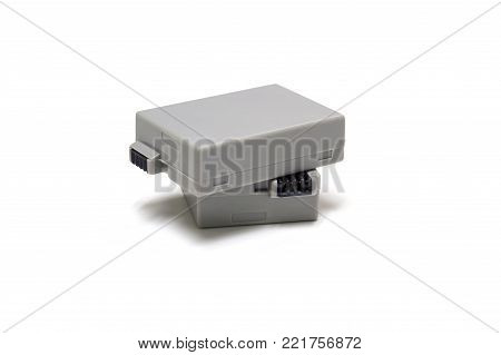 battery rechargeable for a digital camera isolated on white background