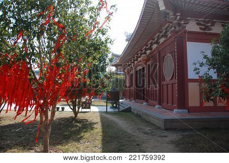 Decoration in garden of buddhist temple Nan Shaolin in Putian, China